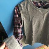 Рубашка-обманка oodji. Фото 3.