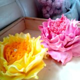 Ручная работа,цветы на заколках, резинках!!!. Фото 4.