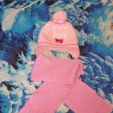 Зимняя шапка + шарфик. Фото 1. Юрга.