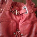 Кожаная сумка красного цвета. Фото 1. Самара.