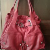 Кожаная сумка красного цвета. Фото 2. Самара.
