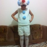 Новогодний костюм снеговика. Фото 1.