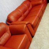 Мягкая мебель из кожи. Фото 1.