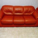 Мягкая мебель из кожи. Фото 2.