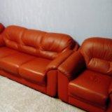 Мягкая мебель из кожи. Фото 3.