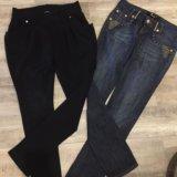 Чёрные брюки,джинсы. Фото 1.