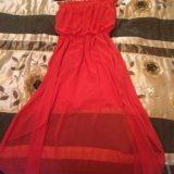 Коралловое платье. Фото 2. Дмитров.