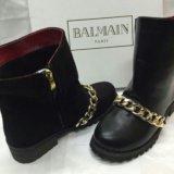 Зимняя обувь ботинки balmain. Фото 1.