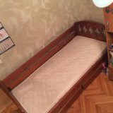 Кровать с ортопедическим матрасом. Фото 1.
