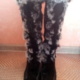 Сапоги зимние натуральная замша-мех. Фото 4. Кострома.