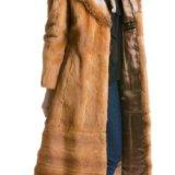Шуба из меха ласки с воротником из лисы. Фото 1. Москва.