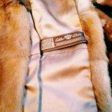 Шуба из меха ласки с воротником из лисы. Фото 2. Москва.