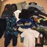 Пакет вещей для мальчика и комбинезон 104-116. Фото 1. Химки.