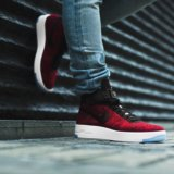 Nike air force 1 red flyknit. Фото 1.