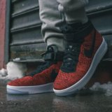 Nike air force 1 red flyknit. Фото 3.