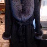 Зимнее пальто с мехом песца. Фото 2. Москва.
