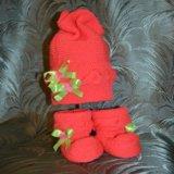 Вязанные шапочки/пинетки для малышей. Фото 1.