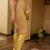 Шикарное платье под золото. Фото 1.
