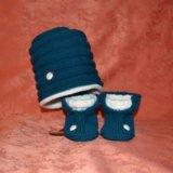 Вязанные шапочки/пинетки для малышей. Фото 2.
