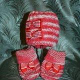 Вязанные шапочки/пинетки для малышей. Фото 3.