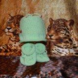 Вязанные шапочки/пинетки для малышей. Фото 4.