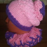 Комплект (шапка+ шарф). Фото 3.