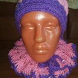 Комплект (шапка+ шарф). Фото 4.