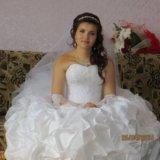 Свадебное платье,перчатки,накидка. Фото 2. Самара.