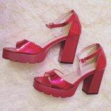 ❤️офигенные красные босоножки туфли красные новые. Фото 1.