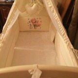 Детская кроватка с балдахином. Фото 1.
