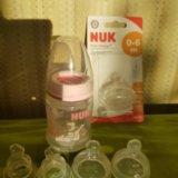 Бутылочка nuk + соски. Фото 1. Москва.