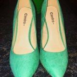 Туфли бирюзовые. Фото 2.
