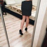 Чёрная юбка в белый горошек, новая. Фото 2. Санкт-Петербург.