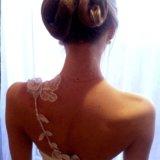 Свадебное платье с корсетом (s-m). Фото 2. Омск.