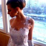 Свадебное платье с корсетом (s-m). Фото 3. Омск.