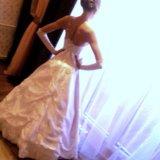 Свадебное платье с корсетом (s-m). Фото 4. Омск.