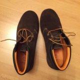 Ботинки замшевые, timberland, р.42. Фото 1.