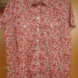 Рубашка цветастая размер 52-54. Фото 1.