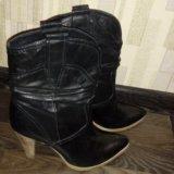 Зимние кожаные сапожки. Фото 1. Киржач.