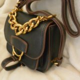 Женская сумка клатч miu miu. кожа. Фото 2.