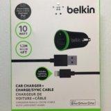 Авто зарядка belkin (1вход usb) + кабель. Фото 1. Калининград.