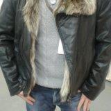 Зимняя кожанная куртка. Фото 4.