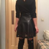 Платье со вставками экокожа. Фото 3.