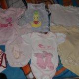 Пакет вещей на девочку от3 до 6месяцев. Фото 3.
