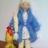 Куколка амигуруми. снегурочка. Фото 2.