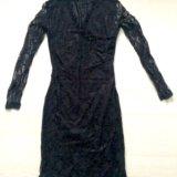Чёрное кружевное платье. Фото 2.