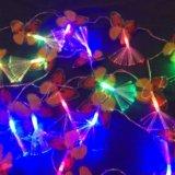 Новогодняя гирлянда бабочки. Фото 4. Санкт-Петербург.