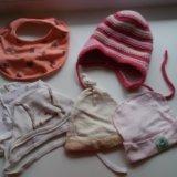 Пакет шапочки и носочки 56-68. Фото 1.