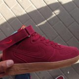 Nike air force бордовые. Фото 1.