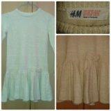 Платье  h&m, рост  116-128. Фото 1. Пенза.
